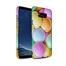STUFF4 Matte Hard Back Snap-On Phone Case for Samsung Galaxy S8 Plus/G955 / Flying Saucers Design / Confectionery Collection