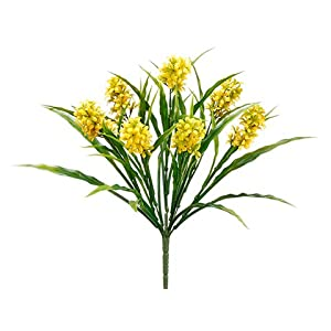 "15"" Mini Hyacinth Bush Yellow (pack of 24) 44"