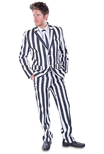 Stag Suits Black and White Striped (44