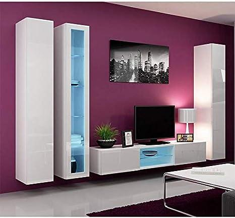 AZURA HOME DESIGN - Mueble para televisor, Color Blanco y Negro: Amazon.es: Hogar