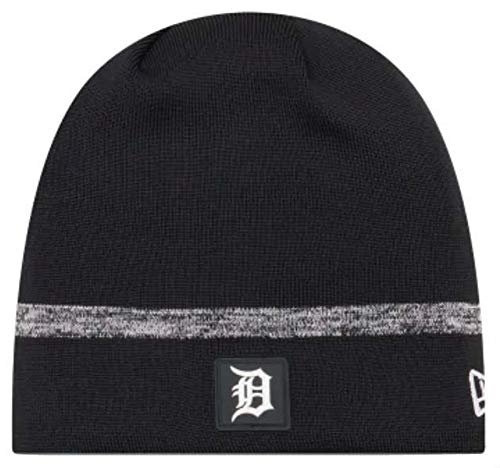 New Era MLB Detroit Tigers Clubhouse Stocking Knit Hat Beanie Skull Cap Navy