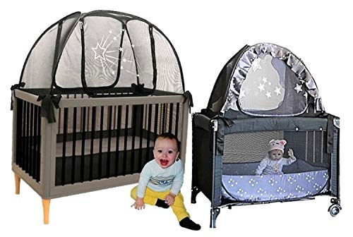Baby Crib Safety Pop up Tent and Travel Crib Tent to Keep Baby from Climbing Out - Premium Net Cover - See Through Black Crib Netting - Nursery Mosquito Net Baby Bed Canopy Netting Cover from AUSSIE COT NET CO DESIGNER BABY CRIB TENTS SINCE 1998 BABY CRIB SAFETY NET - TENT