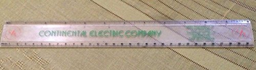 - Vintage Clear Advertising Continental Electric Company Trussville Alabama Ruler