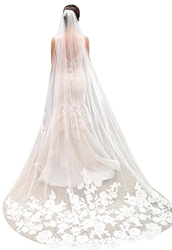 Lace Edge Wedding Veil - 2