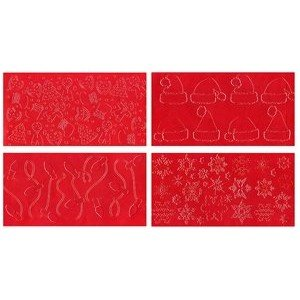 CK Products Impression Mat Set - Snowflakes & Christmas