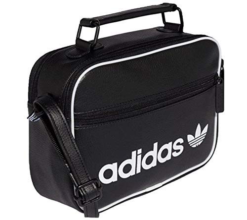 x Bag 23 cm x Unisex's 8 Black adidas Airliner Messenger 17 Mini Vintage xAFRR8Bq