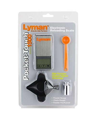 Lyman Pocket Touch 1500 Scale Kit with Powder Pal Funnel Pan & Handy Powder Scoop