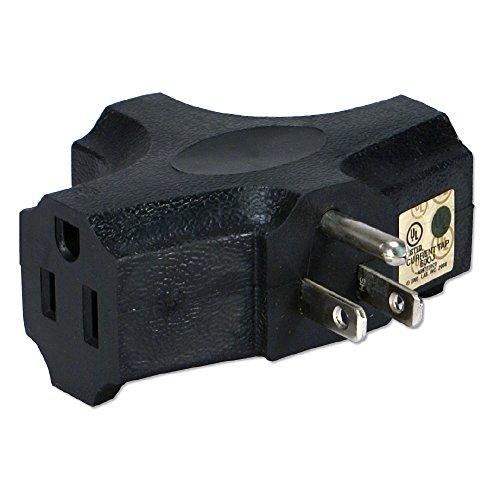 QVS PA-3P-4PK Black 3-Outlet 3-Prong AC Plug, - Pa Outlets
