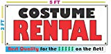 COSTUME RENTAL All Weather Full Color Banner Sign