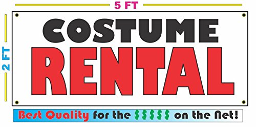 COSTUME RENTAL All Weather Full Color Banner Sign]()
