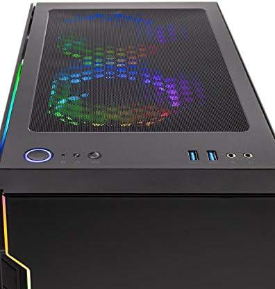 SkyTech Shadow 3.0 Gaming Computer PC Desktop - Ryzen 7 3700X 8-Core 3.6GHz, RTX 3060 12GB, 1TB SSD, 16GB DDR4 3000, B550 MB, RGB Fans, AC WiFi, 600W Gold PSU, Windows 10 Home 64-bit, Black
