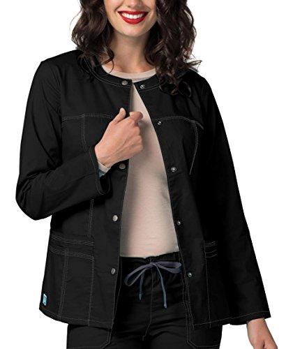Pop Top Jacket - Adar Pop-Stretch Junior Fit Taskwear Topper Jacket - 3208 - Black - M
