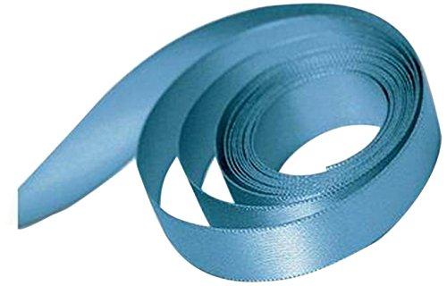 (Papillon Ribbon and Bow 74305 Single Face Satin Ribbon, Venetian Blue)