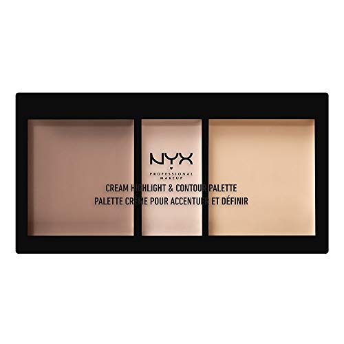 NYX PROFESSIONAL MAKEUP Cream Highlight & Contour Palette, Light, 0.38 Ounce