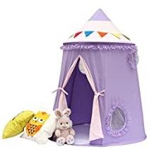 Pericross Kids Teepee Tents Children Mongolian Play Tent Castle Gamehouse for Indoor Outdoor 160cm Purple