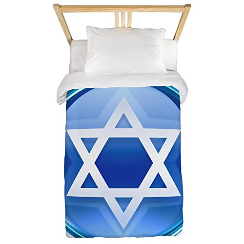 Twin Duvet Cover Blue Star of David Jewish by Royal Lion