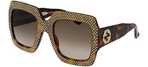 Gucci GG 0048 S- 002 002 AVANA / BROWN / AVANA Sunglasses