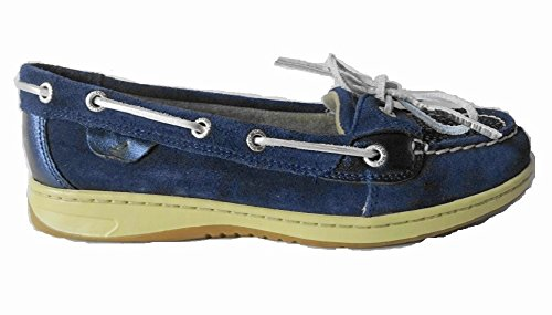 Women's Sider Navy Angelfish Loafer Slip 2 Eye Top Oat Sperry on Ef6w5