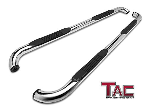"TAC Side Step Fit 2002-2008 Dodge Ram 1500 Quad Cab /2003-2009 Dodge Ram 2500/3500 Quad Cab (Exclude Daytona, Rumble Bee and SRT-10 models) 3"" Stainless Steel Side Bars Nerf Bars Running Boards (2PCS)"