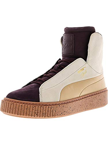 PUMA Women's Platform Fshn Naturel Winetasting/Eggnog High-Top Fashion Sneaker - 9M