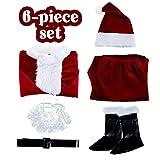 SOMOYA Christmas Santa Claus Costume Santa Suit Adults Men Santa Costume Christmas Costumes