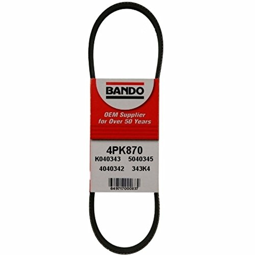 BANDO Replacement for Toyota Tacoma April 1997 on through 2004 2.7L FOUR CYLINDER Alternator-Air Conditioner-Power Steering Belt Set(3 belts) BANDO 4PK870 5PK865 4PK1110