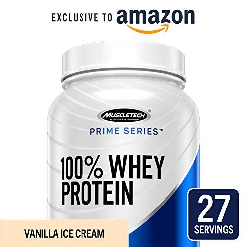 (MuscleTech Prime Series 100% Whey Protein Powder, 25g Premium Protein, Research Proven Whey & Peptides for Faster Absorption, Vanilla, 27 Servings (2.0lbs) - Amazon Exclusive)