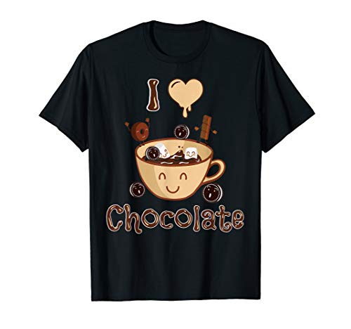 I Love Chocolate Tshirt Funny Chocolate Lover Gifts