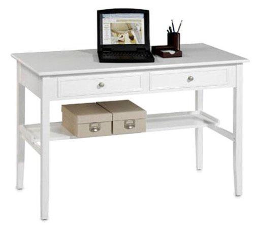 Oxford 48 Inch White Two Storage Drawer Writing Desk, TWO-DRAWER, (48