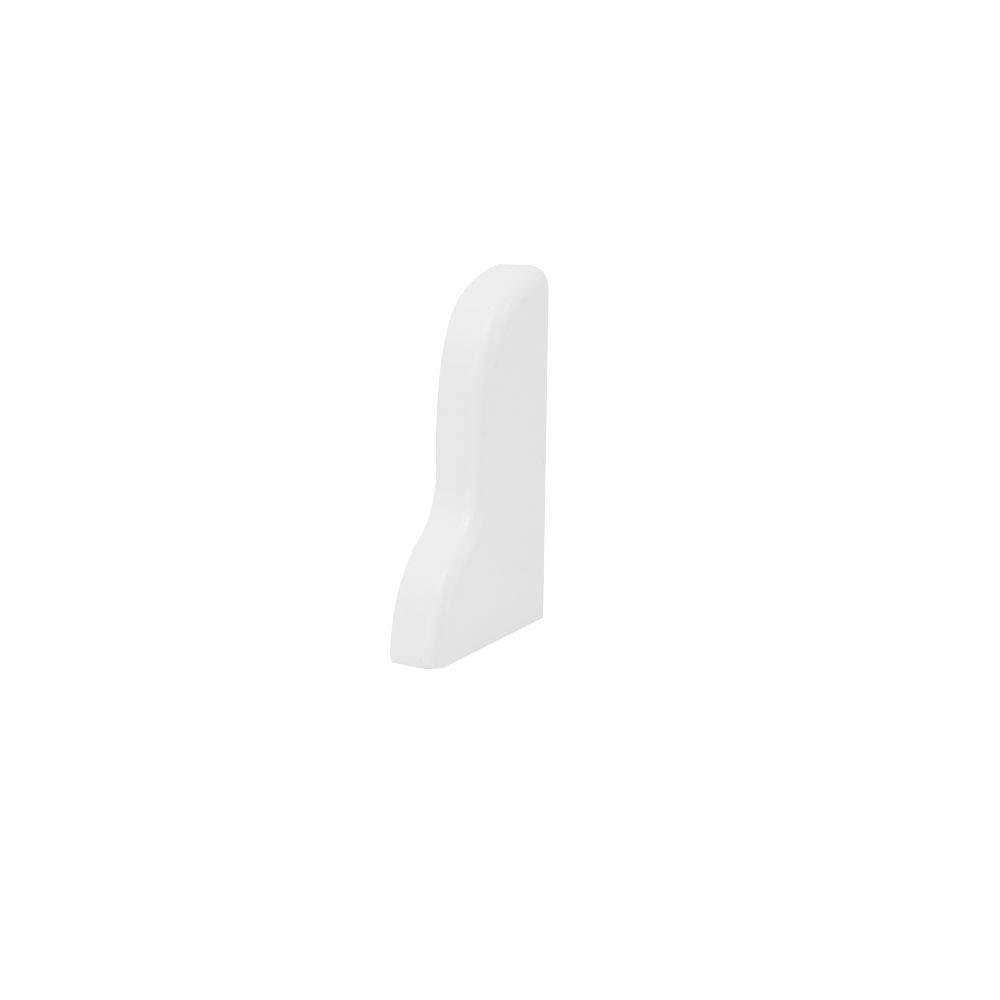 Trevendo/® 10 St/ück Innenecke silber f/ür Sockelleiste Fu/ßleiste 58 mm und 60 mm H/öhe