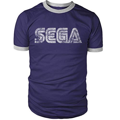 Sega Vintage Logo Ringer Shirt Navy