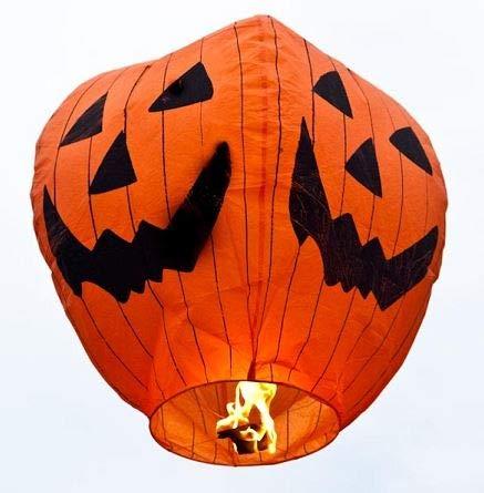 Halloween Chinese Sky Lanterns (Wishlantern Halloween Eco (Pack of 5 Sky)