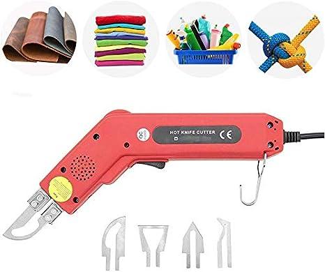 S SMAUTOP Cuchillo eléctrico caliente, 220V / 100W Kit de herramienta de corte de espuma de poliestireno profesional de espuma para cortar ...