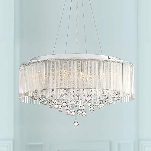"Ashton 24"" Wide Chrome Crystal Pendant Light - Vienna Full Spectrum"