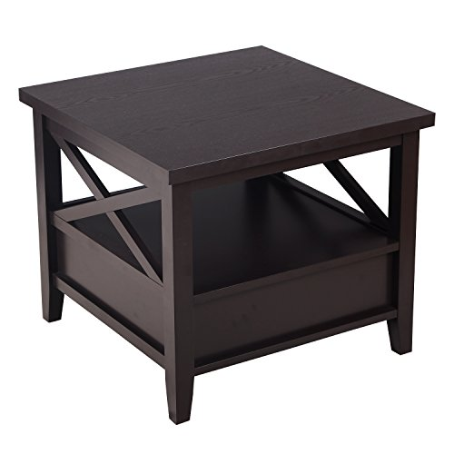 elegan-accent-brown-wood-square-end-table-with-drawer-and-shelf