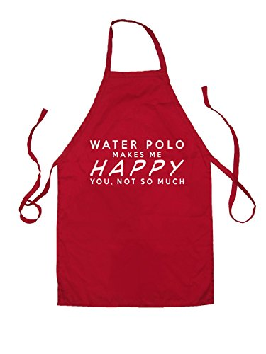 WATER POLO Makes Me Happy You, Not So Much - Kids Unisex Fit Apron - Red-3-6YRS