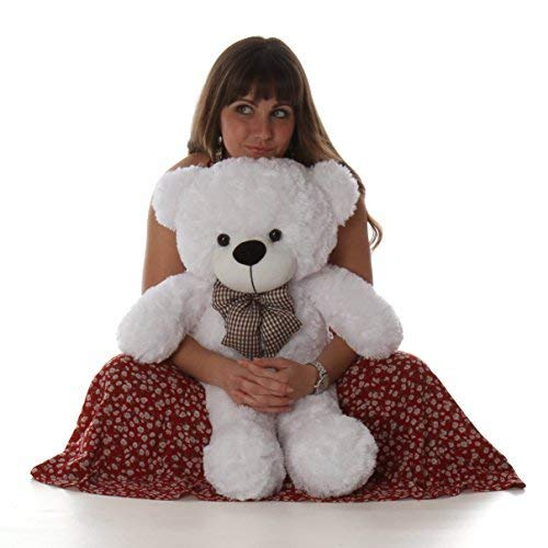 Cuddle White Bear - Giant Teddy Coco Cuddles - 30