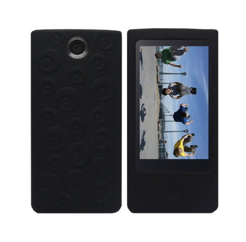 black-soft-silicone-skin-case-fishbone-style-keychain-for-sony-bloggie-touch-mhs-ts20-mhs-ts10-4gb-8