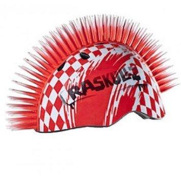 Helm für BMX Fahrrad Skater Inliner Freestyle-Raskullz-Mohican - Irokesenfrisur