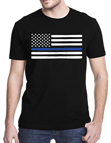 Support Police T-Shirt, Large, Black