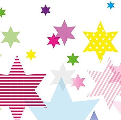 """anna wand design frise murale auto-adh/ésive motif avec /étoiles /""""Stars 4 Girls/"""" filles 450 x 11,5 cm pour chambre d/'enfants"""