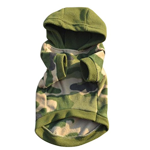 Hot Sale Dog Puppy Hoodie Warm Sweater Soft Jumpsuit Coat Apparel (Camouflage, L) ()