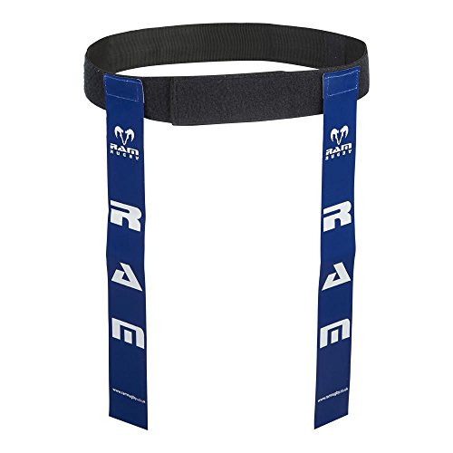 Ram Rugby Tag Belt Sets - Small/Large - Green/Blue/Red/Pink/Yellow/White - Set of 10 Belts - 20 Flags