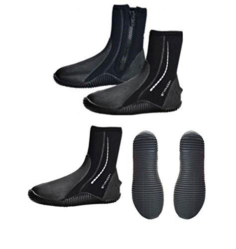 Typhoon - Botas de agua con cremallera negro