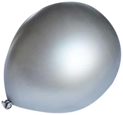 Homeford Premium Latex Balloons Plain Color, 12-Inch, Silver, -