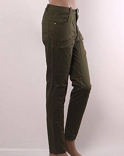 Droit Femme ZhuiKun Leggings Mince Arme Haute Moulant Verte Taille Pantalon EFxqwp