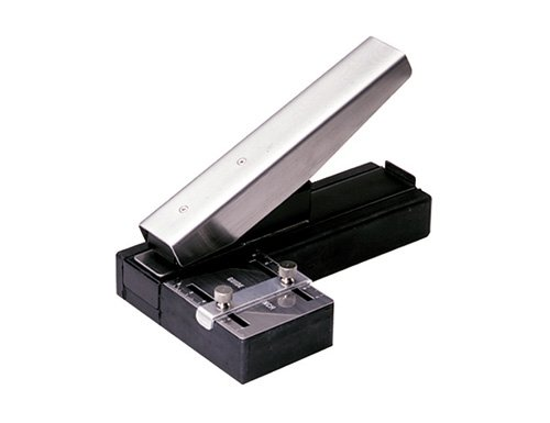 Stapler-Style Slot Punch with Adjustable Guide