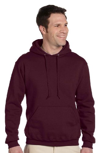JERZEES SUPER SWEATS - Pullover Hooded Sweatshirt. 4997M - Large - Maroon - Jerzees 4997 Hoodie Sweatshirt
