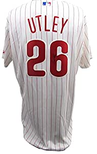 Chase Utley Autographed/Signed Philadelphia Phillies Authentic Majestic Home Jersey