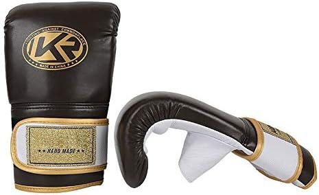 エクササイズ用 ワークアウトバーグリッパーボクシングMMAムエタイ指なし手袋ハンドプロテクター 通気性 (Color : Brown, Size : One size)